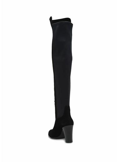 Beymen Club Kalın Topuklu Diz Üstü Çizme Siyah